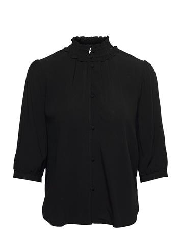 Carin Wester Coffee Blouses Short-sleeved Musta Carin Wester BLACK