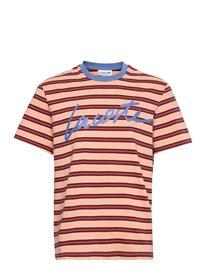 Lacoste Men S Tee-Shirt T-shirts Short-sleeved Punainen Lacoste LEDGE/TURQUIN BLUE-PENUMBRA-CRATER
