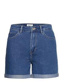 ONLY Onlvega Life Hw Mom Shorts Shorts Denim Shorts Sininen ONLY MEDIUM BLUE DENIM