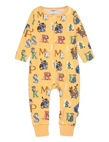 Mumin Alphabet Pyjamas Pyjama Sie Jumpsuit Haalari Keltainen Mumin YELLOW