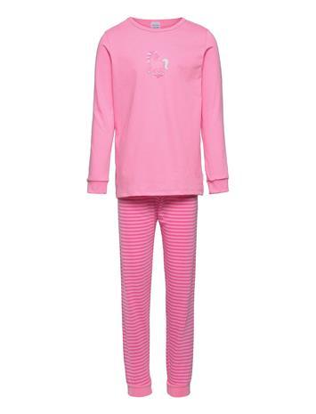 Schiesser Girls Pyjama Long Pyjamasetti Pyjama Vaaleanpunainen Schiesser ROSE