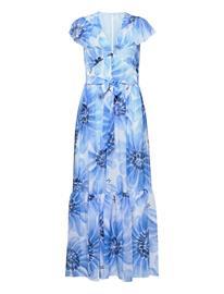 Tommy Hilfiger Abo Giant Daisy Long Dress Maksimekko Juhlamekko Sininen Tommy Hilfiger SWEET BLUE/MULTI