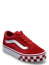 VANS Uy Old Skool Matalavartiset Sneakerit Tennarit Punainen VANS (CHECK BUMPER)CHLPPRTRWHT