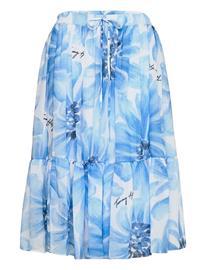 Tommy Hilfiger Abo Giant Daisy Knee Skirt Polvipituinen Hame Sininen Tommy Hilfiger SWEET BLUE/MULTI