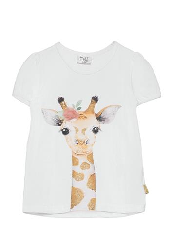 Hust & Claire Annielle - T-Shirt T-shirts Short-sleeved Valkoinen Hust & Claire WHITE