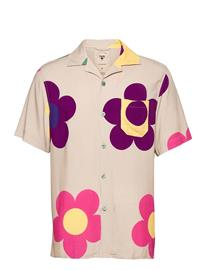 OAS Daisy Shirt Lyhythihainen Paita Vaaleanpunainen OAS BEIGE