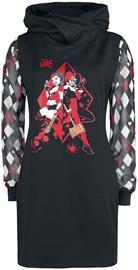 Harley Quinn - Duo Sweatdress - Keskipitkä mekko - Naiset - Musta