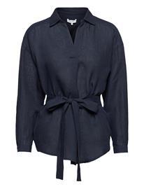 Andiata Nancey Linen Shirt Pitkähihainen Paita Sininen Andiata BLUE