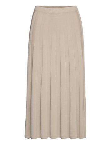 Filippa K Ruby Knitted Skirt Polvipituinen Hame Beige Filippa K GREY BEIGE