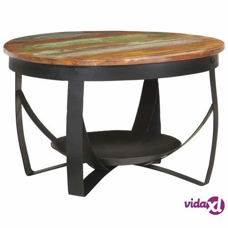 vidaXL Sohvapöytä ä˜ 68x43 cm täysi kierrätetty puu