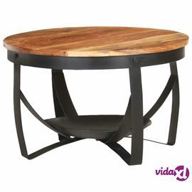 vidaXL Sohvapöytä ä˜ 68x43 cm täysi akaasiapuu
