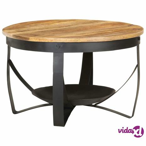 vidaXL Sohvapöytä ä˜ 68x43 cm karkea mangopuu