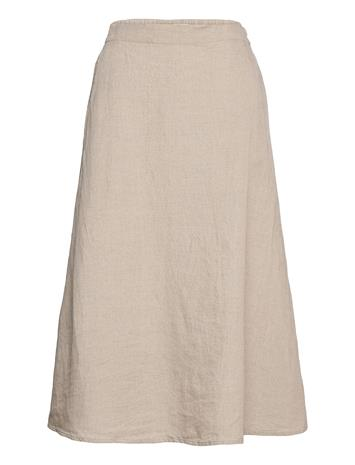 Marimekko Suoda Solid Skirt Polvipituinen Hame Beige Marimekko SAND
