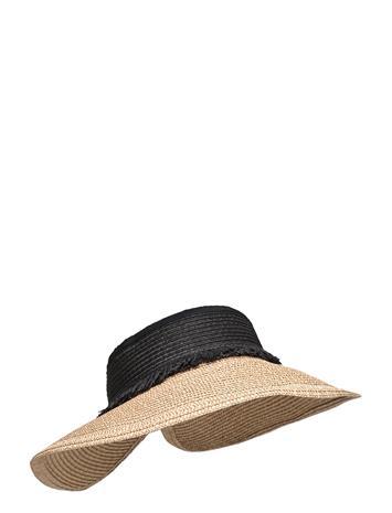 Becksöndergaard Savanna Straw Visor Accessories Headwear Bucket Hats Beige Becksöndergaard BROWNIE