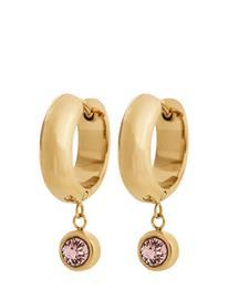Edblad Dew Drop Hoops Blush Gold Accessories Jewellery Earrings Hoops Kulta Edblad GOLD