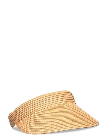 Selected Femme Slfmilla Straw Visor B Accessories Headwear Caps Beige Selected Femme BEIGE