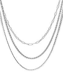 Pieces Pctulia Combi Necklace Accessories Jewellery Necklaces Chain Necklaces Hopea Pieces SILVER COLOUR