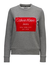 Calvin Klein Jeans Hansi Cn Hwk L/S Neule Paita Harmaa Calvin Klein Jeans MID GREY HEATHER