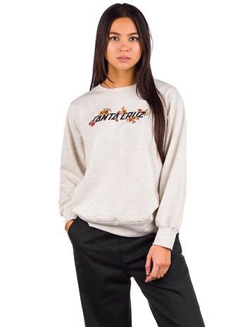 Santa Cruz Poppy Strip Crew Sweater athletic heather Naiset, Naisten paidat, puserot, topit, neuleet ja jakut