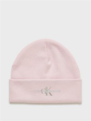 Calvin Klein Jeans Monogram Beanie Vaaleanpunainen