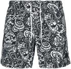 Urban Classics - Tattoo AOP Swim Shorts - Uimashortsit - Miehet - Musta, Miesten uimahousut