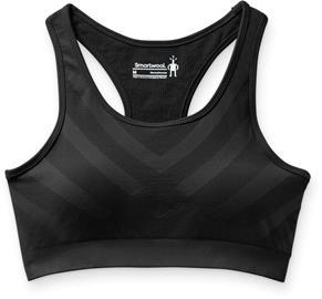 Smartwool Seamless Racerback Sport Bra Women, musta, Naisten alus- ja yöasut, sukat sekä kylpytakit