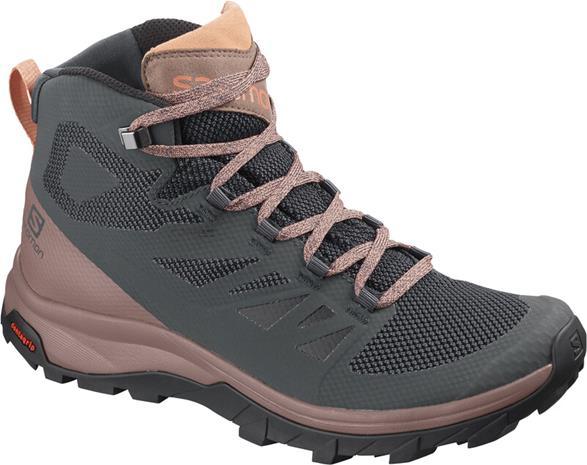 Salomon Outline Mid GTX Kengät Naiset, ruskea/oliivi, Naisten kengät