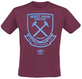 West Ham United - Umbro 125 Large Logo Tee - T-paita - Miehet - Tummanpunainen, Miesten paidat, puserot ja neuleet