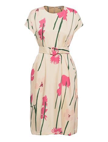 Marimekko Hietsu Torin Kukat Dress Dresses Everyday Dresses Vaaleanpunainen Marimekko BEIGE, PINK, GREEN