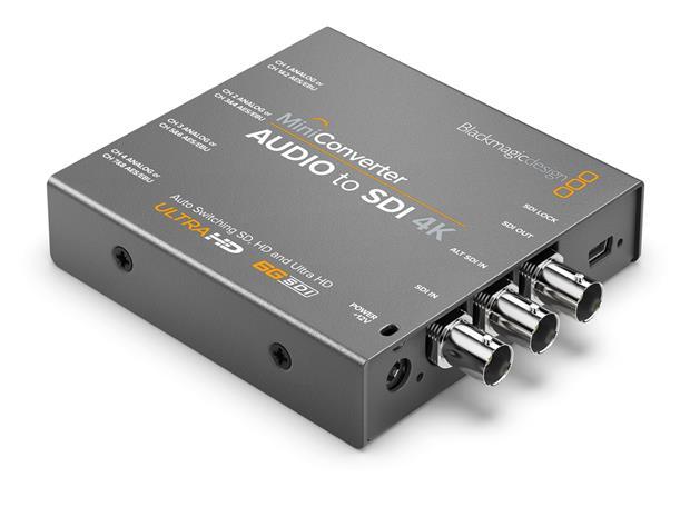 Blackmagic Design Mini Converter Audio to SDI 4K, signaalinmuunnin