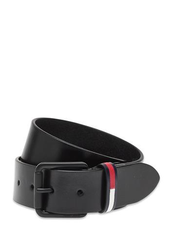 Tommy Hilfiger Tjm Casual Flag Belt 4.0 Accessories Belts Classic Belts Musta Tommy Hilfiger BLACK