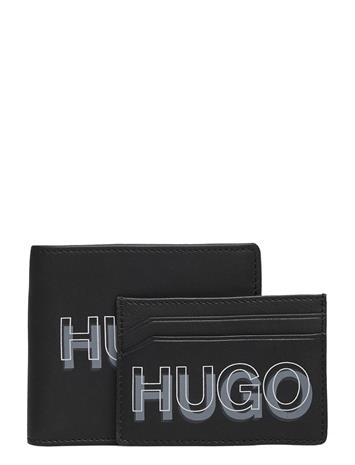 HUGO Gbhm_8cc S Card Blur Accessories Wallets Cardholder Musta HUGO BLACK
