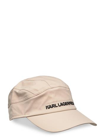 Karl Lagerfeld Karl Essential Barret Cap Accessories Headwear Caps Beige Karl Lagerfeld TAUPE