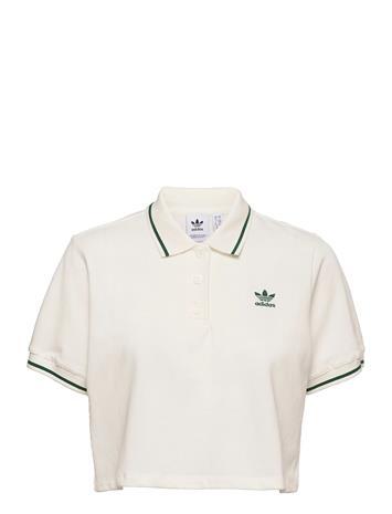 adidas Originals Polo Shirt W T-shirts & Tops Polos Valkoinen Adidas Originals OWHITE