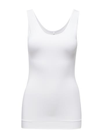 Day Birger et Mikkelsen Day Basic Smooth T-shirts & Tops Sleeveless Valkoinen Day Birger Et Mikkelsen WHITE