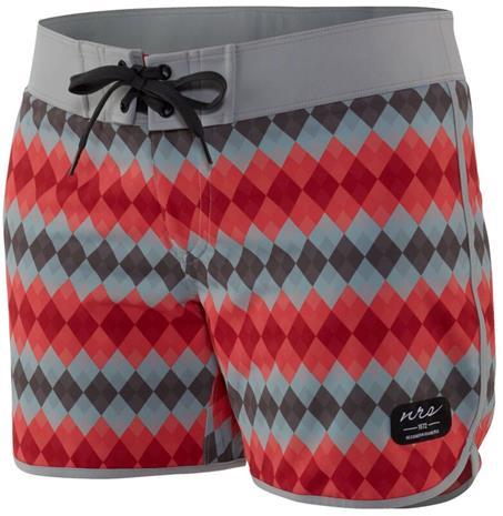 NRS Beda Board Shorts Women, harmaa/punainen
