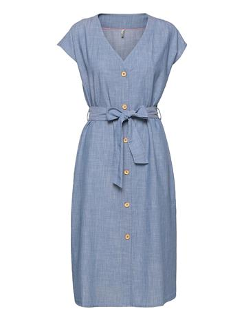 Pulz Jeans Pzluna Dress Premium Polvipituinen Mekko Sininen Pulz Jeans LIGHT BLUE DENIM