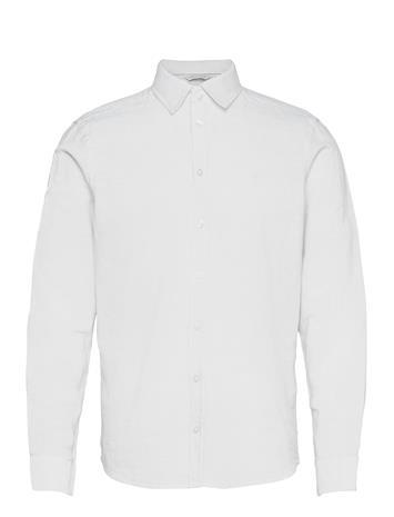 Casual Friday Anton Ls Detachable Collar Linen Sh Paita Rento Casual Valkoinen Casual Friday BRIGHT WHITE