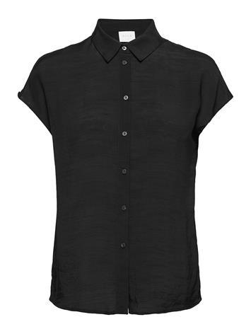Vila Vianne S/L Shirt Lyhythihainen Paita Musta Vila BLACK