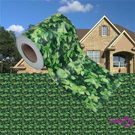 vidaXL Puutarhan yksityisyyden suoja PVC 35x0,19 m vihreä