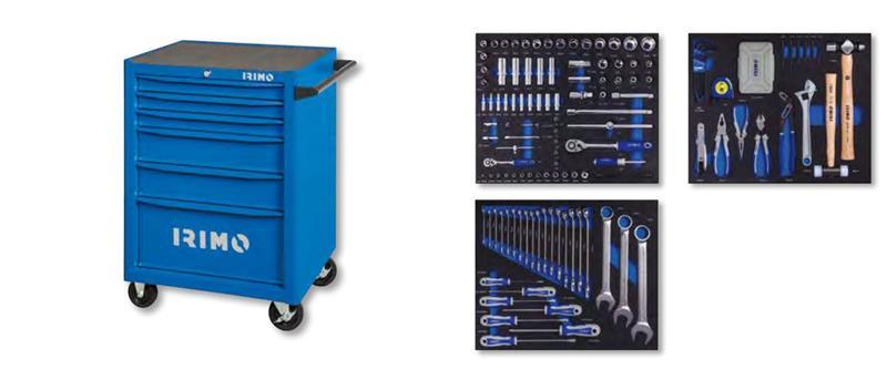 Työkaluvaunu työkaluilla Irimo; 677x501x950 mm; 206 kpl.