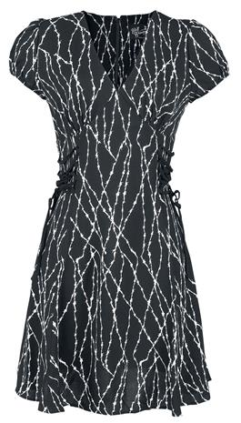 Hell Bunny - Barbed Wire Mid Dress - Keskipitkä mekko - Naiset - Musta