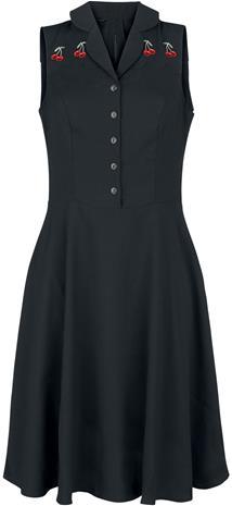 Hell Bunny - Cherry Bonbon Dress - Keskipitkä mekko - Naiset - Musta