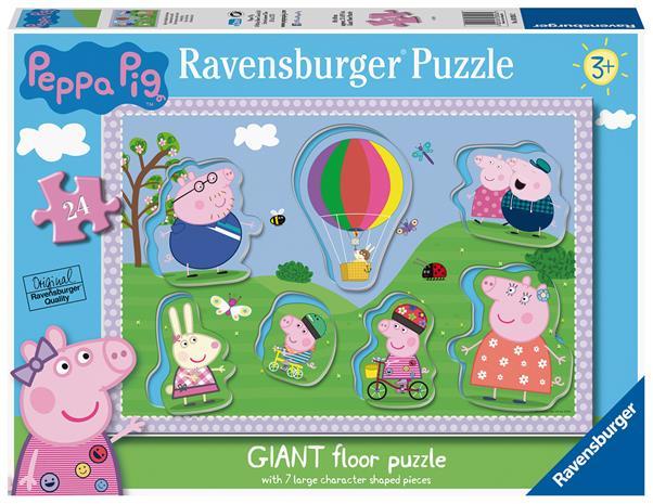 RAVENSBURGER palapeli Peppa Pig Shaped, 24kpl., 03026