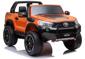 Toyota Hilux lasten sähköauto, maalattu oranssi