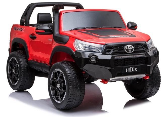 Toyota Hilux lasten sähköauto, maalattu punainen