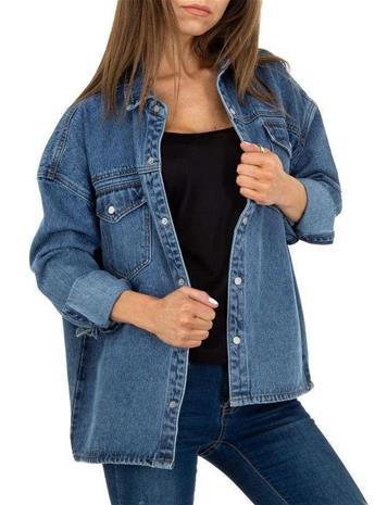 Naisten farkkupaitapusero, sininen S