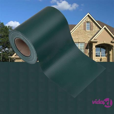 vidaXL Puutarhan yksityisyyden suojat 4 kpl PVC 35x0,19 m matta vihreä
