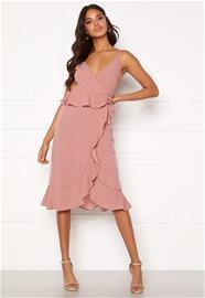 Bubbleroom naisten mekko ANALISA, vaaleanpunainen 40