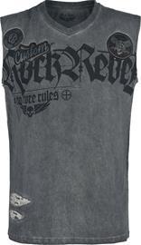 Rock Rebel by EMP - Harmaa tank-toppi erikoispesulla ja painatuksella - Tank-toppi - Miehet - Harmaa